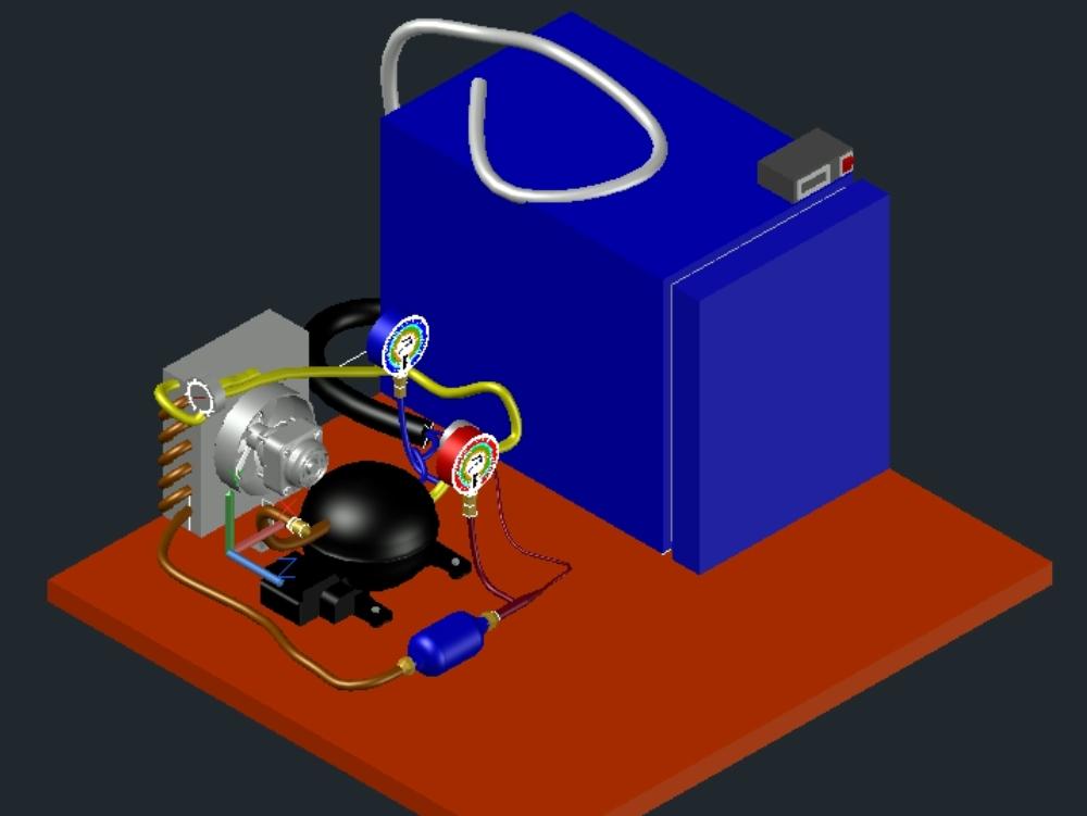 Modulo de refrigeracion y congelacion 3d