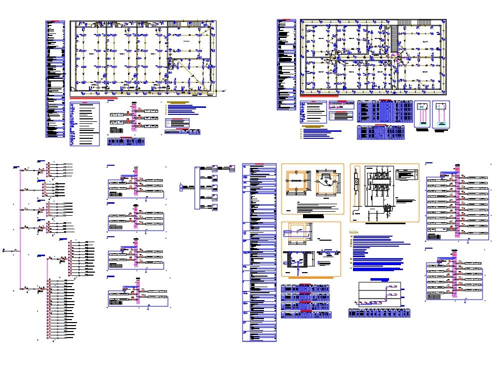 Proyecto eléctrico de un edificio de tres pisos.