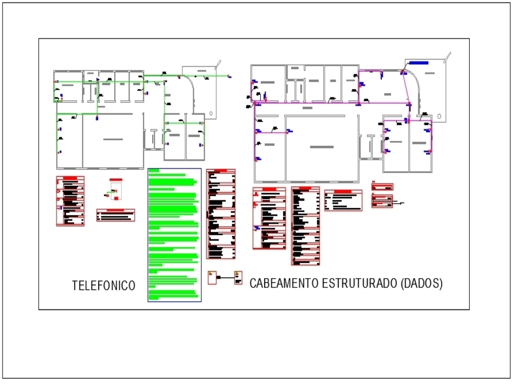 Telephone and internet facility design