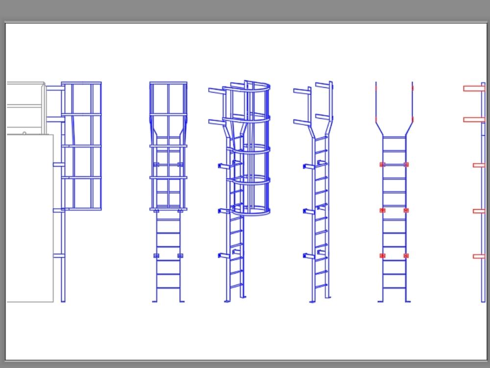 3-inch platinum seafaring ladder