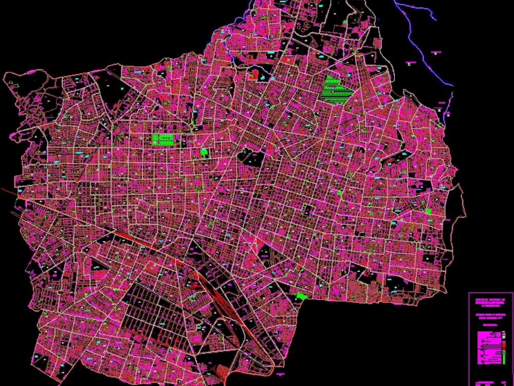 Flat city of Guadalajara; Mexico