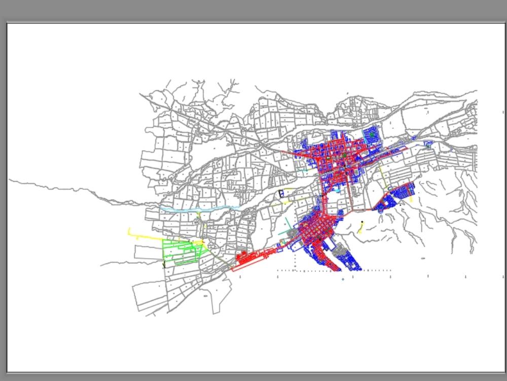 Cadastral map of nasca - peru of 2015-.