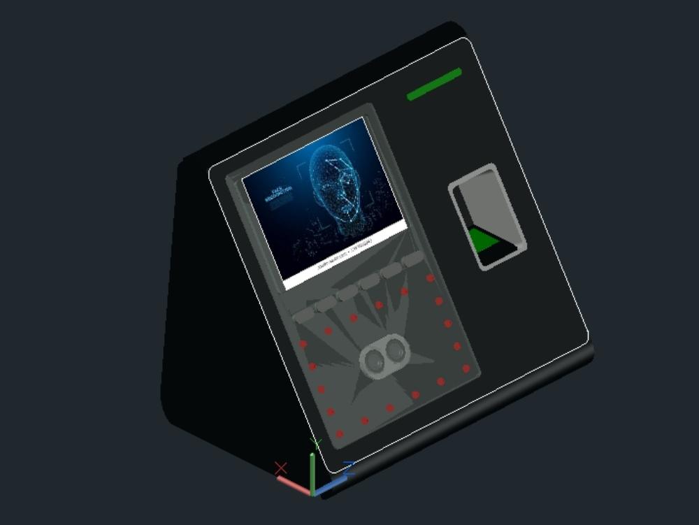 Sensor de seguridad lector biométrico facial