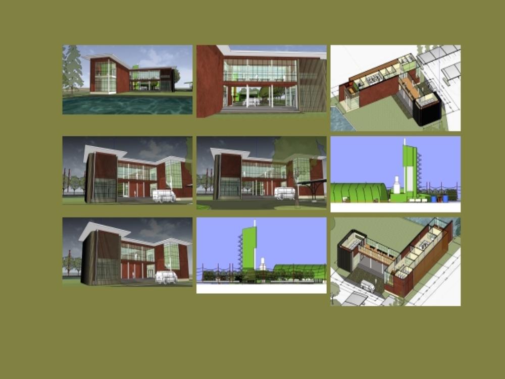 Edificio de oficinas y fabrica de cementos