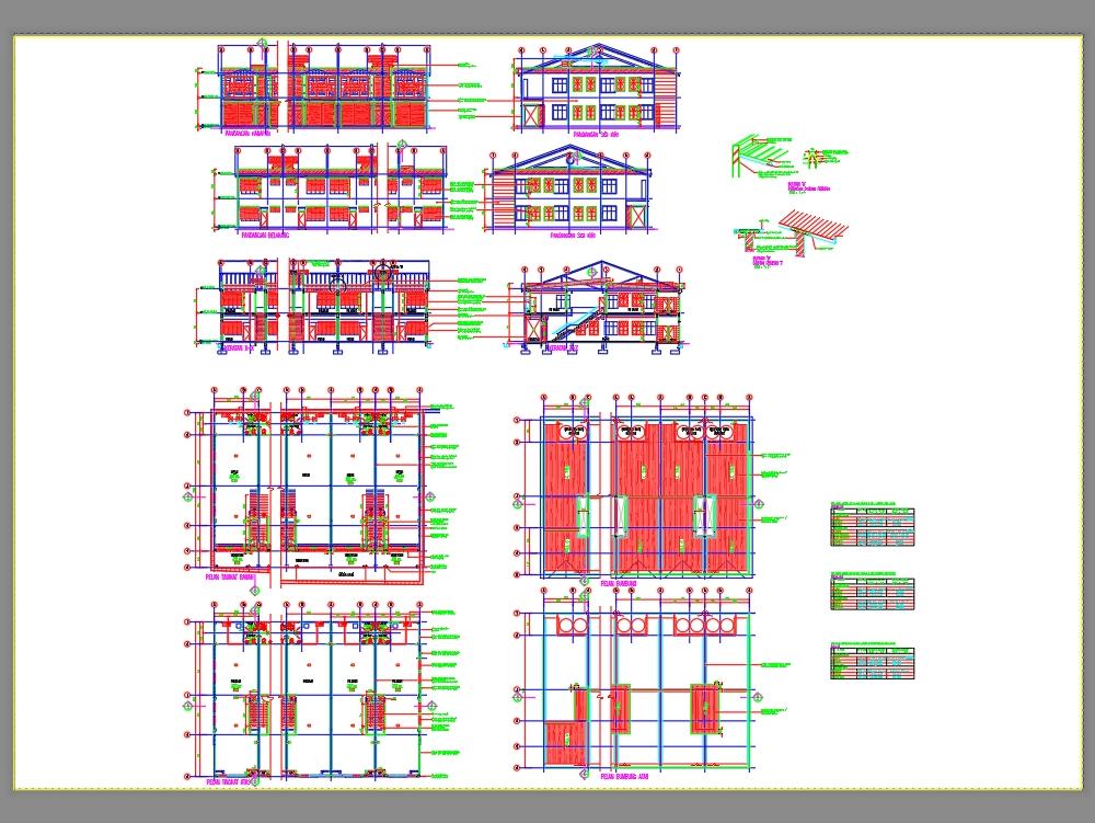 Tienda de arquitectura de oficinas plan de construcción