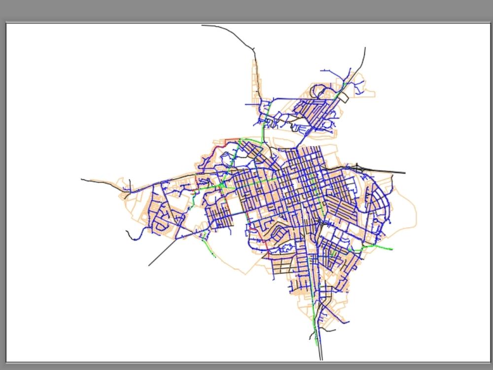 Municipio de colombia con su red de alcantarillado