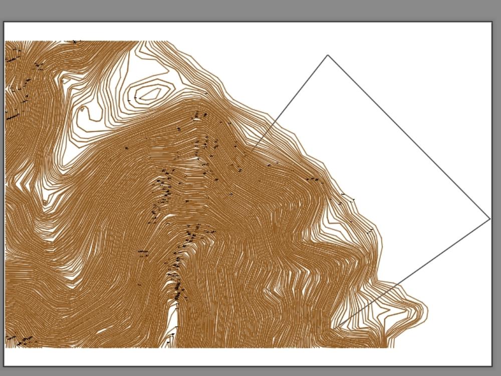 Caleta colorada; chimbote; plano topografico
