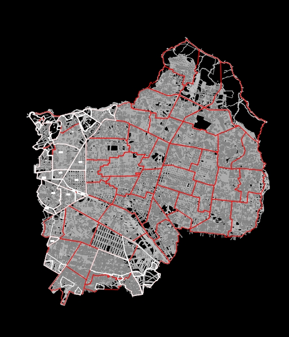 Base mapping of the Guadalajara metropolitan area
