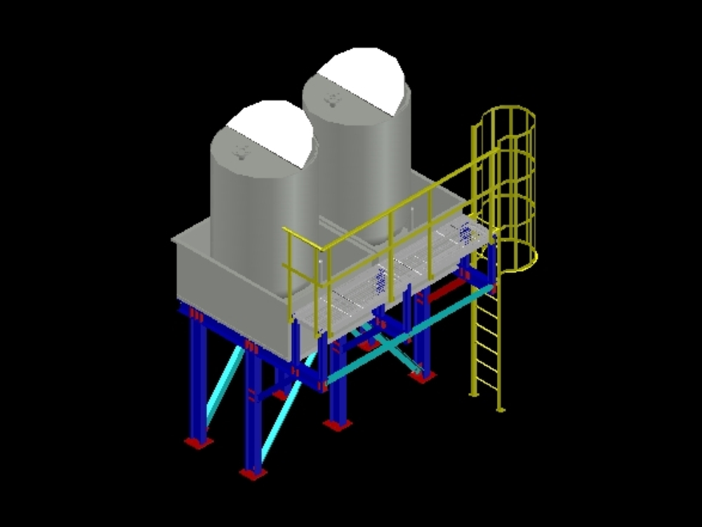 Stainless steel tank structure