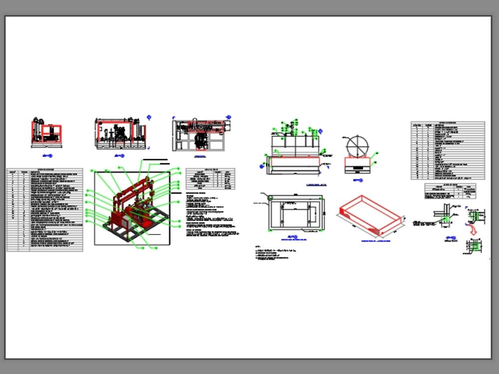 Skid contra incendio plano estructural