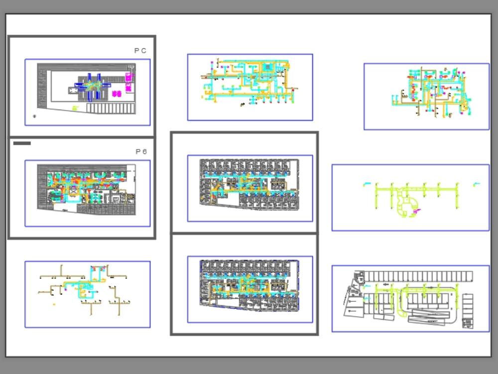 Proyecto de climatización - planos de planta