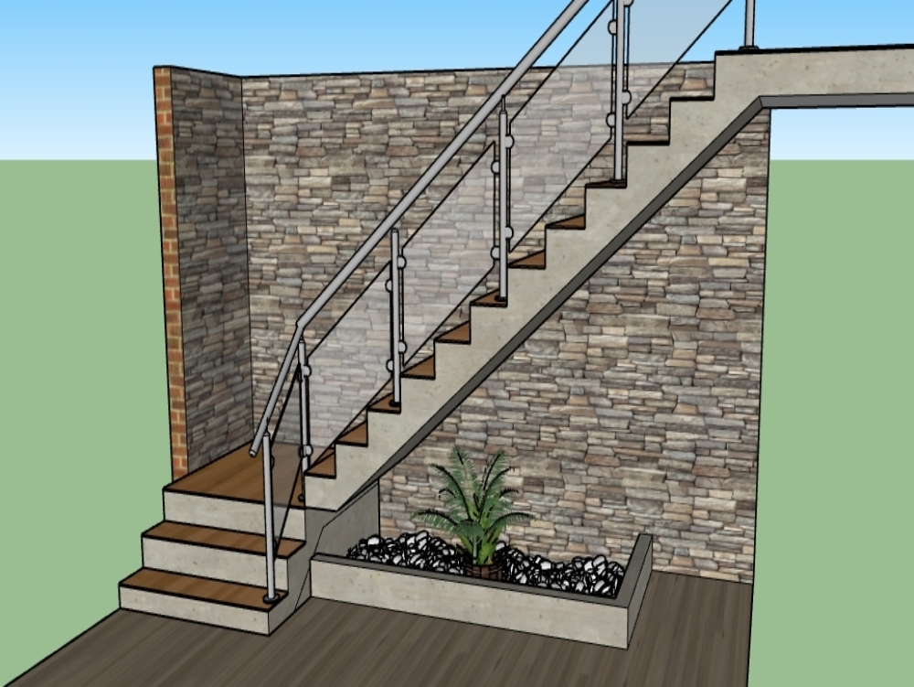 Proposal of planter and staircase