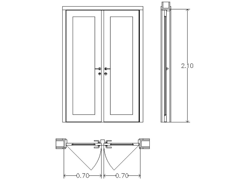 Doble puerta de madera de abrir