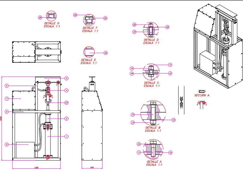 Tensile testing machine for destructives