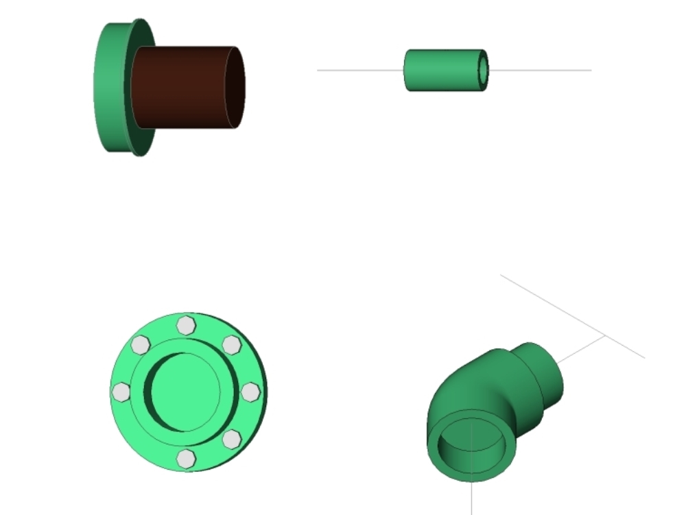 Tuboplus diferentes conexiones revit