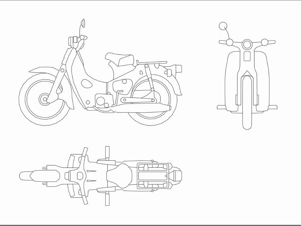 Plano de motocicleta
