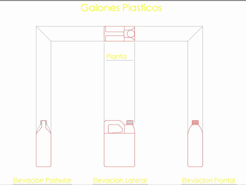 Plastic gallons for various liquids