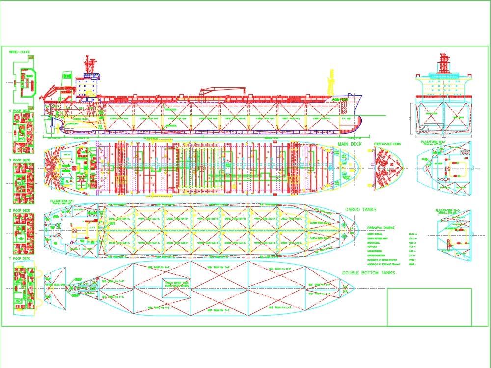 Buque petrolero 32mx180m panamax.