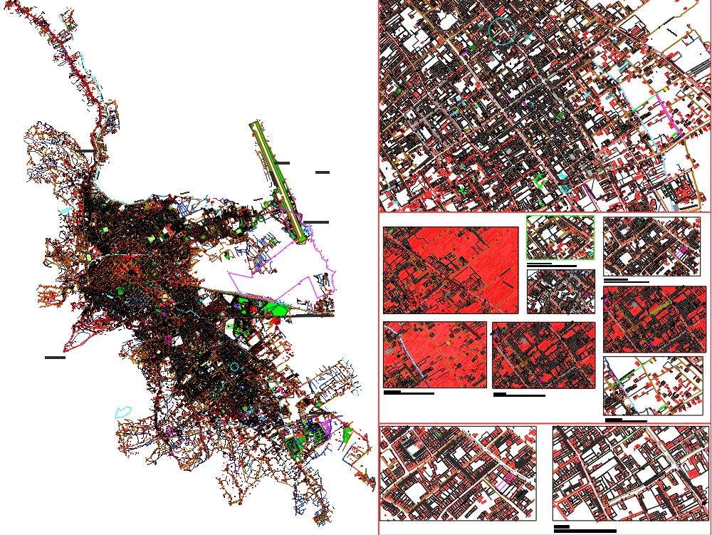 Plano ciudad de cajamarca