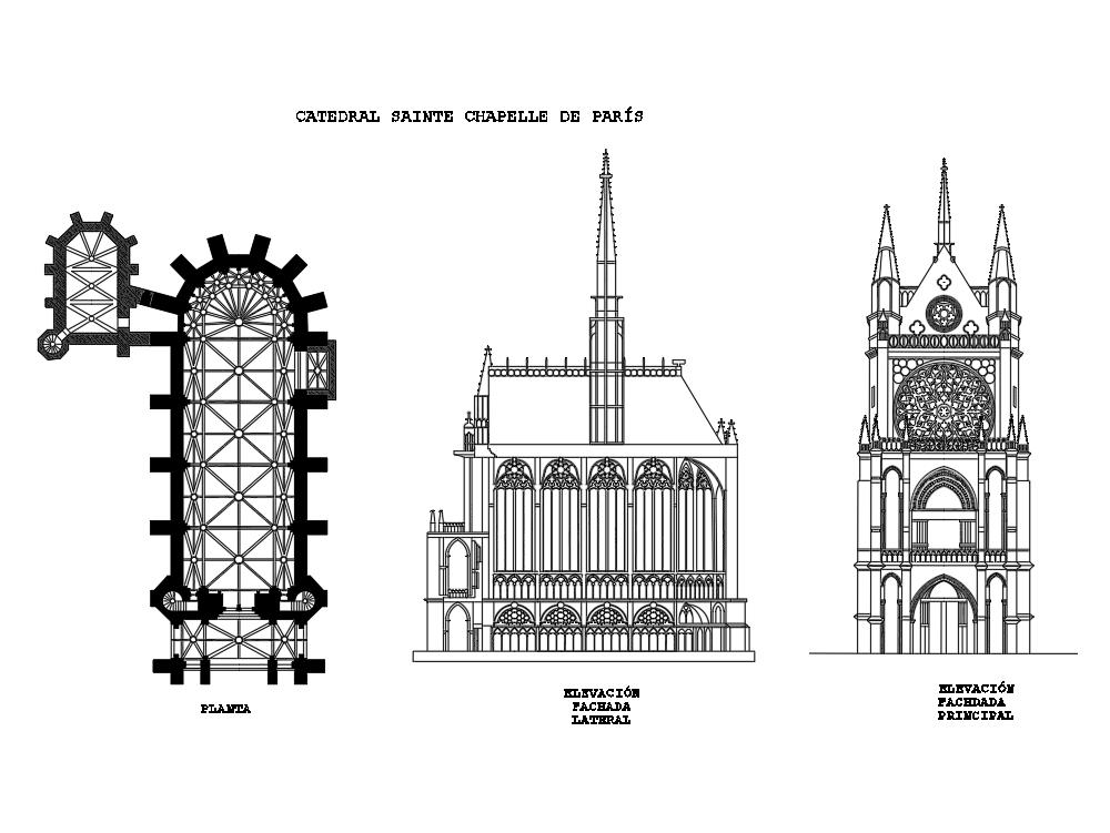 Sainte Chapelle Cathedral in Paris