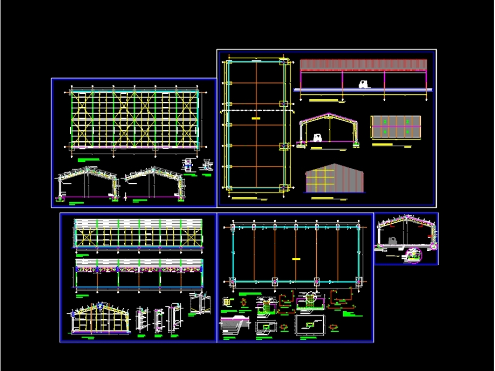 The plan of an industrial warehouse