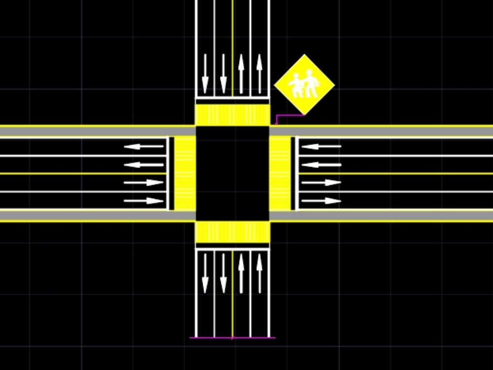 Road signs in autocad