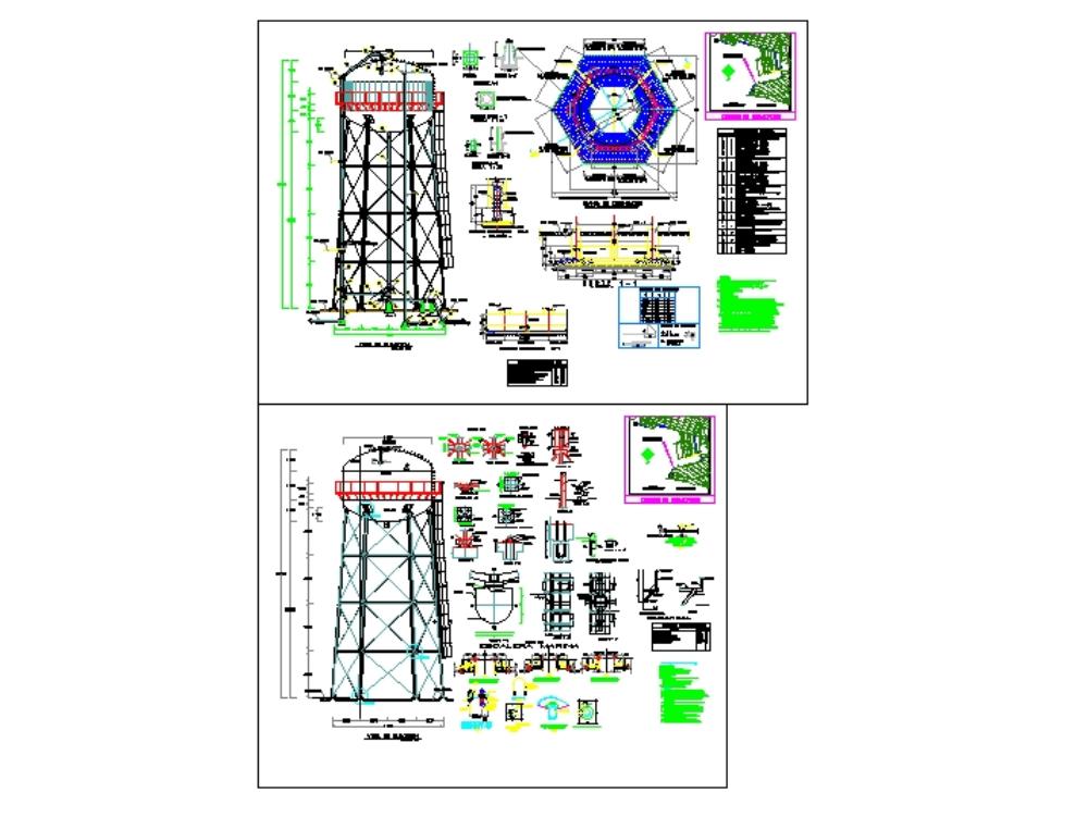 Tanque elevado para instalación hidráulica