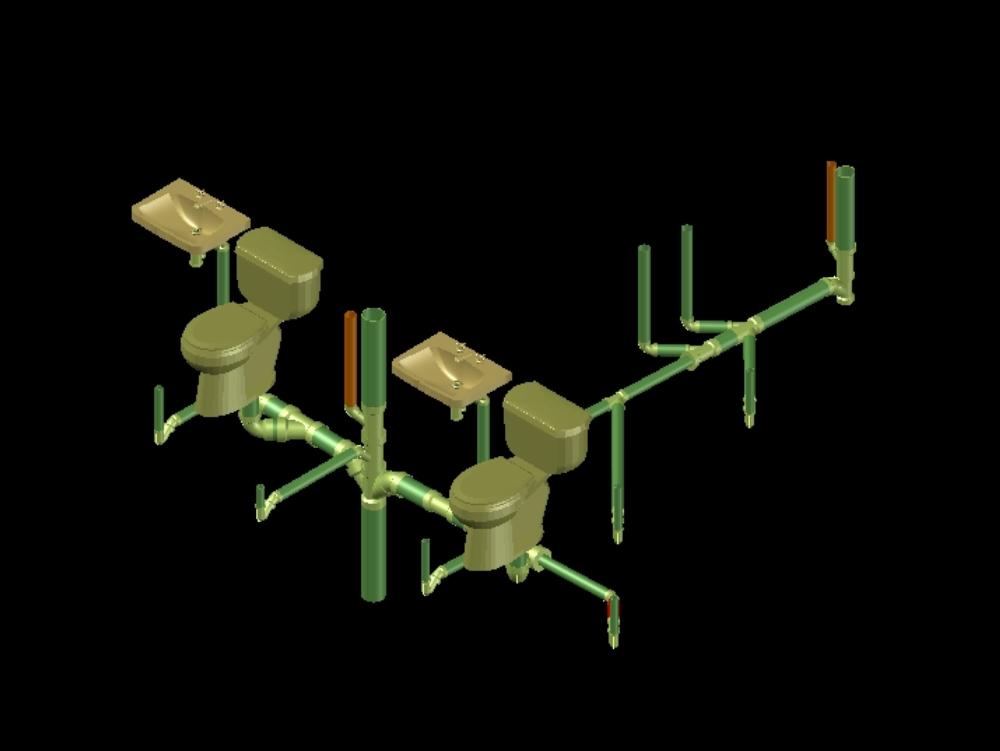 Instalación sanitaria tridimensional