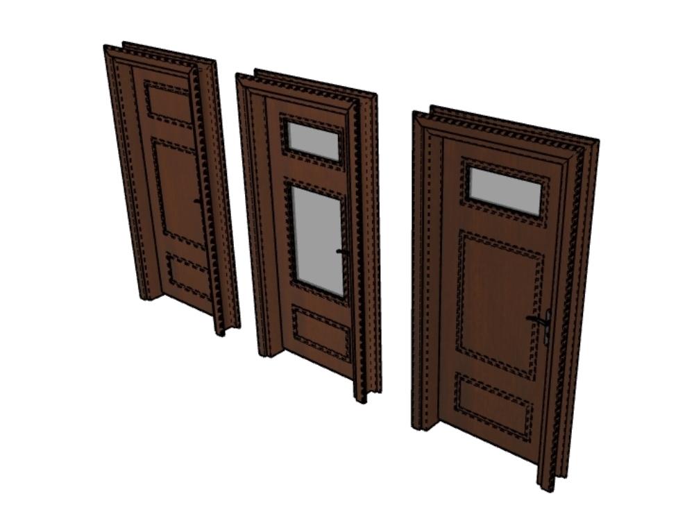 3d wooden door ready to render