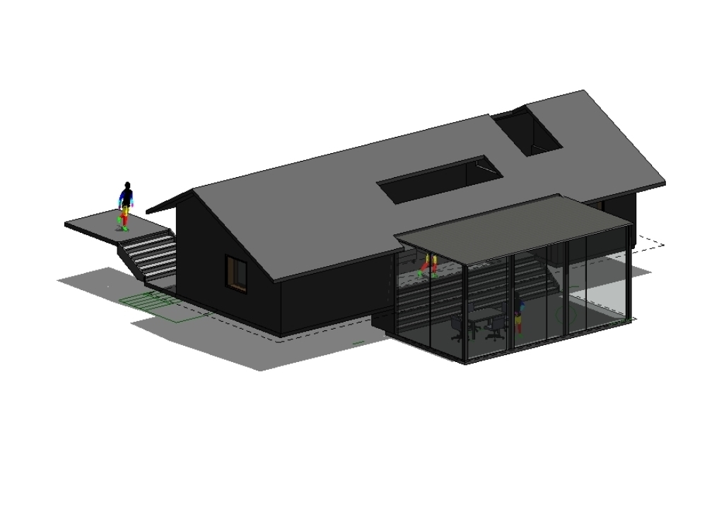 Retirement cabin project in revit 2018