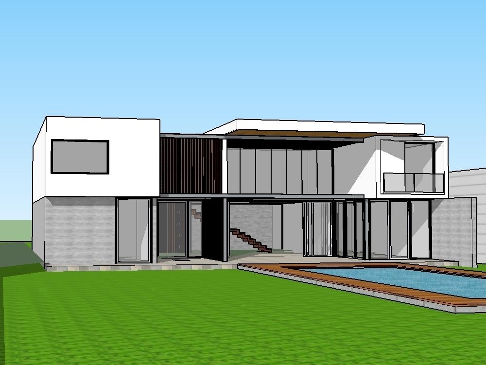 Villa - morden villa residence 3d design