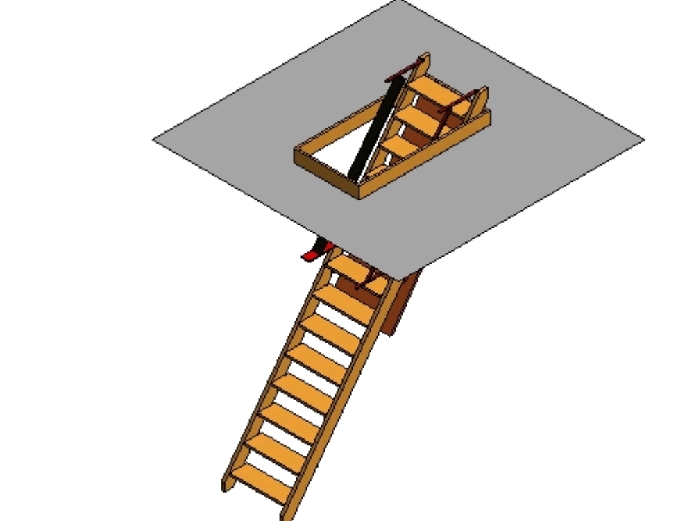 Detachable ladder for an attic
