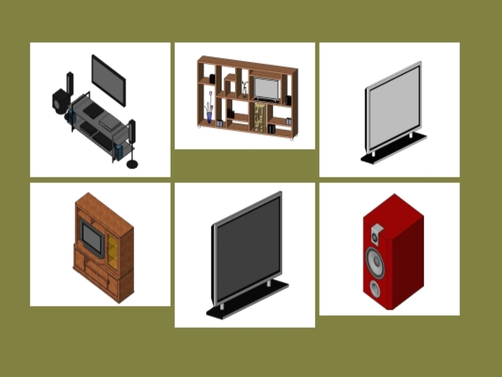 Familias para revit de audio y video
