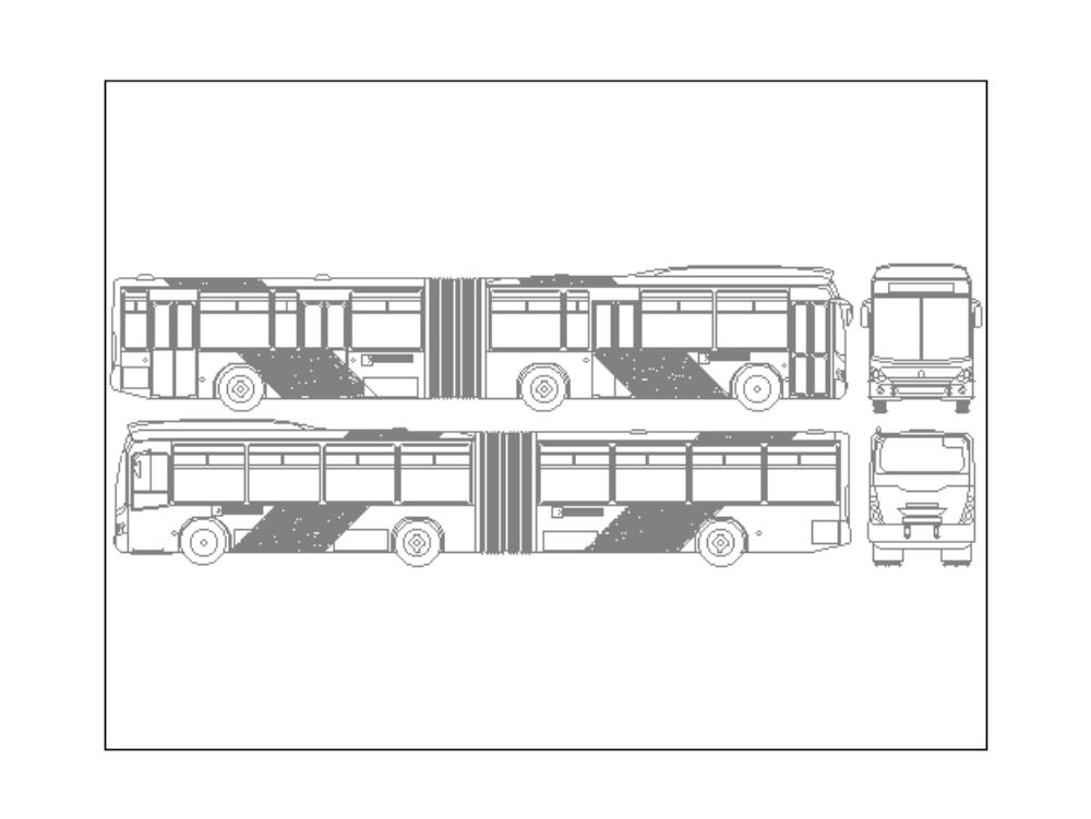 Articulated bus drawing