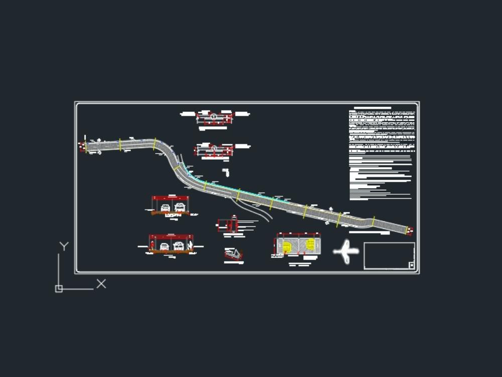 Plano de construccion de una calle.