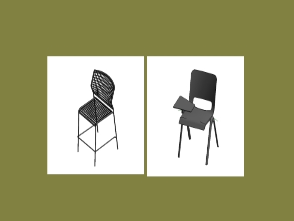 Revit chair families for rendering