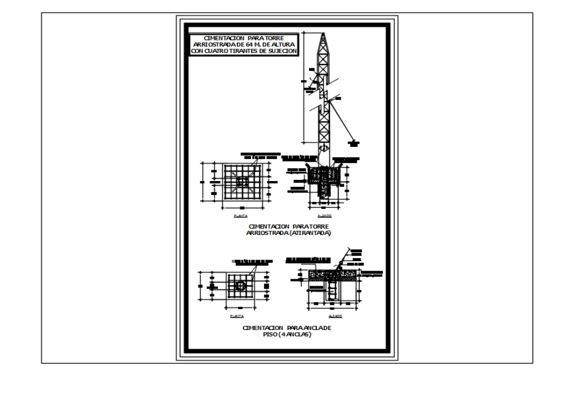 Torre repetidora arriostrada de 64 mts