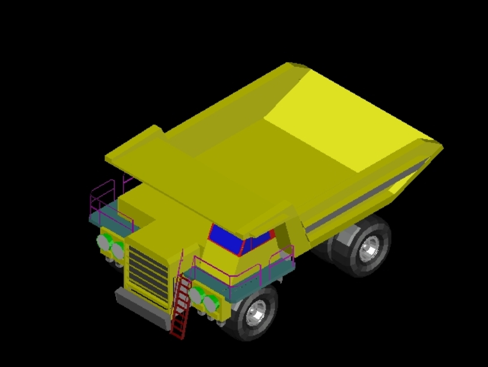 Mining truck in dwg format