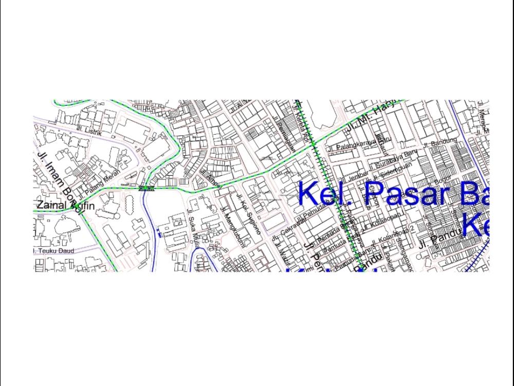 Tumenggung street of medan city;indonesia