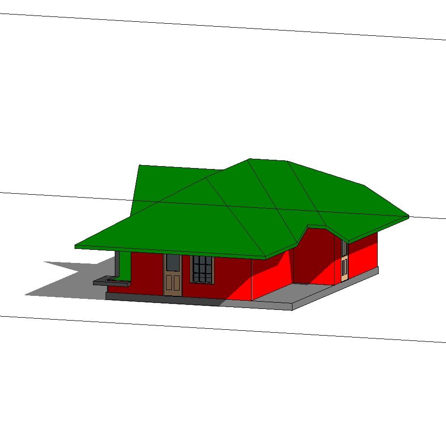Example of basic house; for beginner in revit