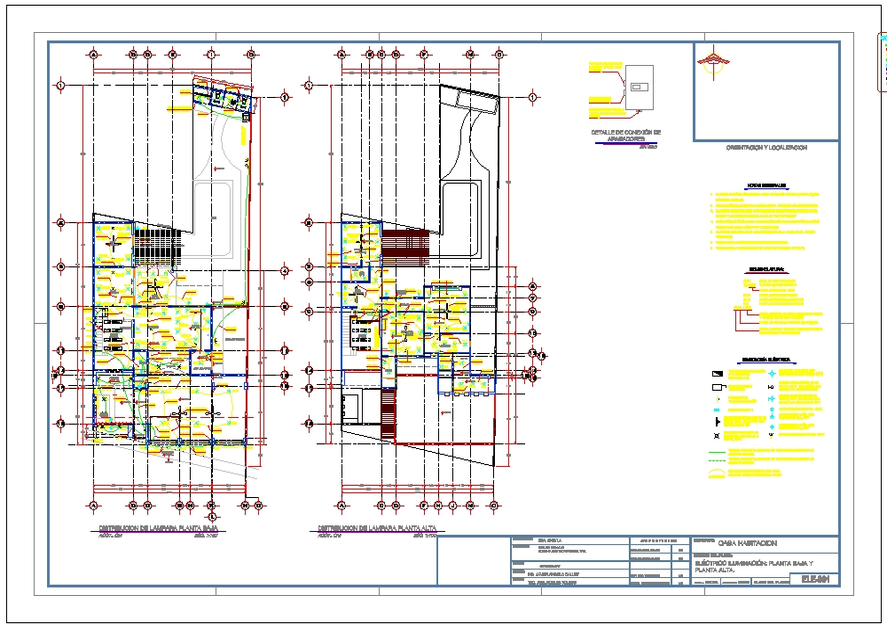 Lighting distribution plan