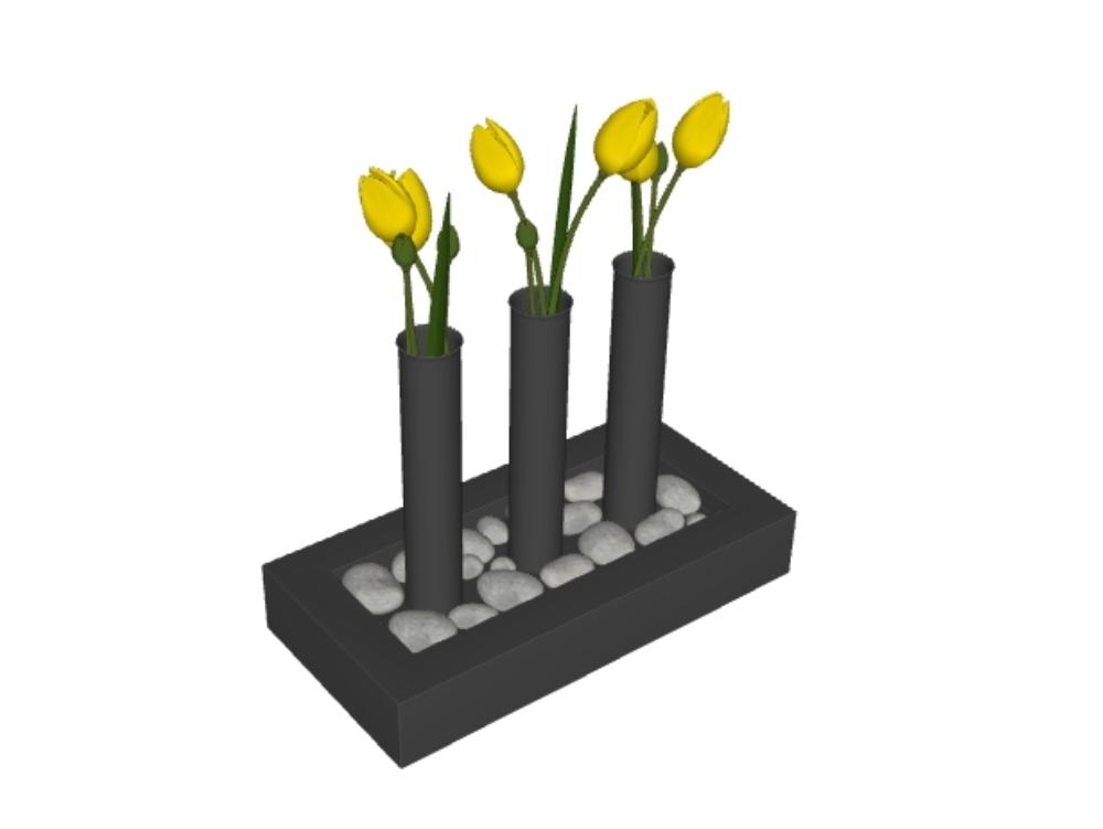 Plantas interiores 3d