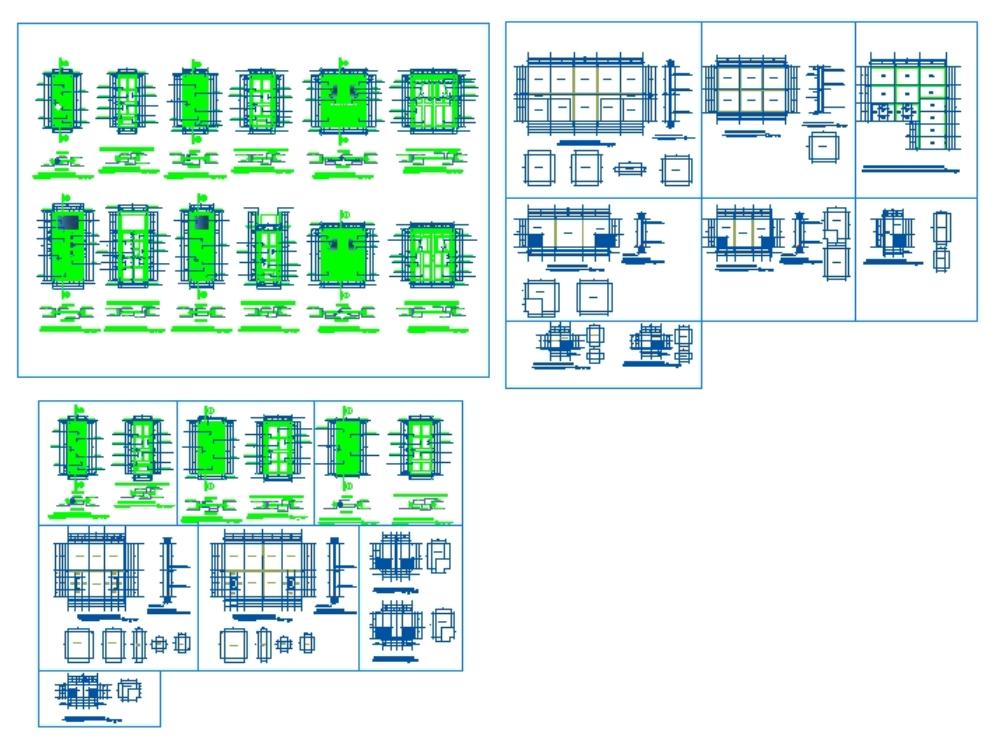 Plano detalle de puertas y ventanas de hospital