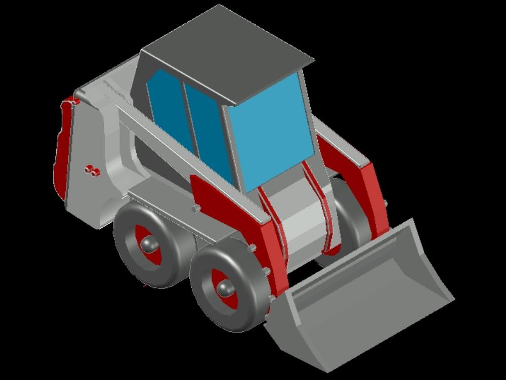 Bobcat mini loader type crane
