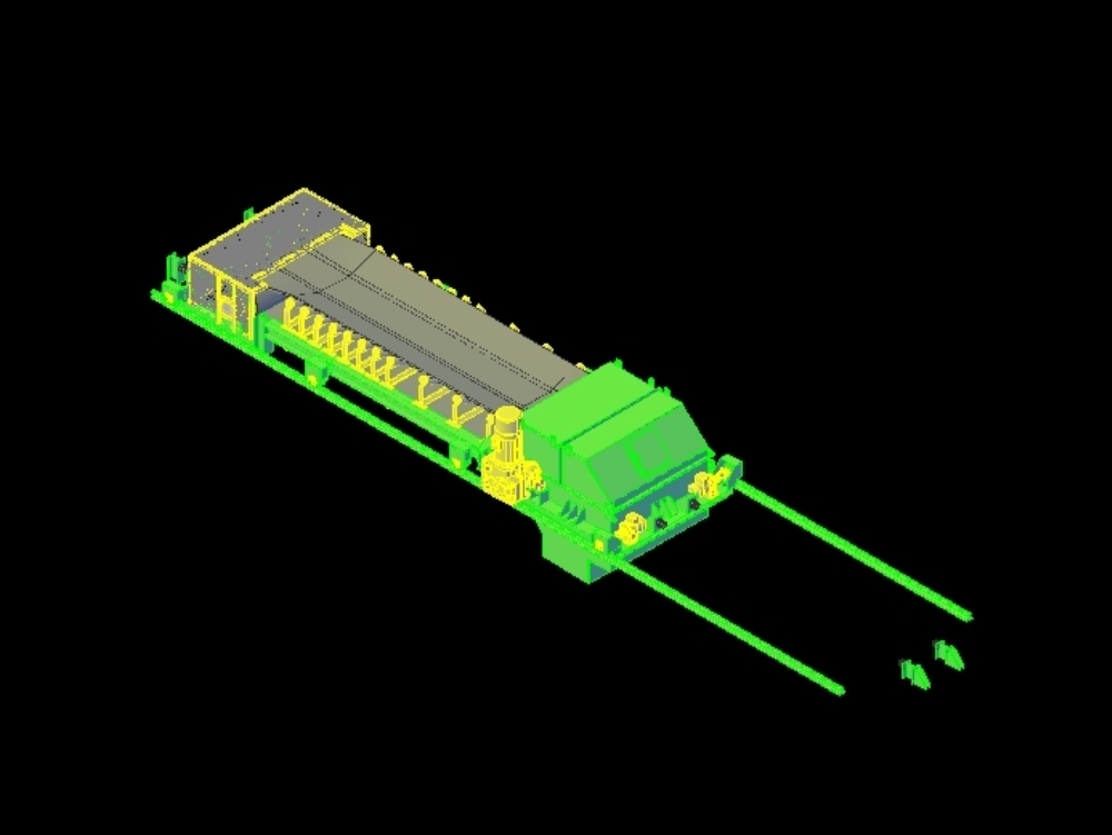 Mobile feeder belt with rail