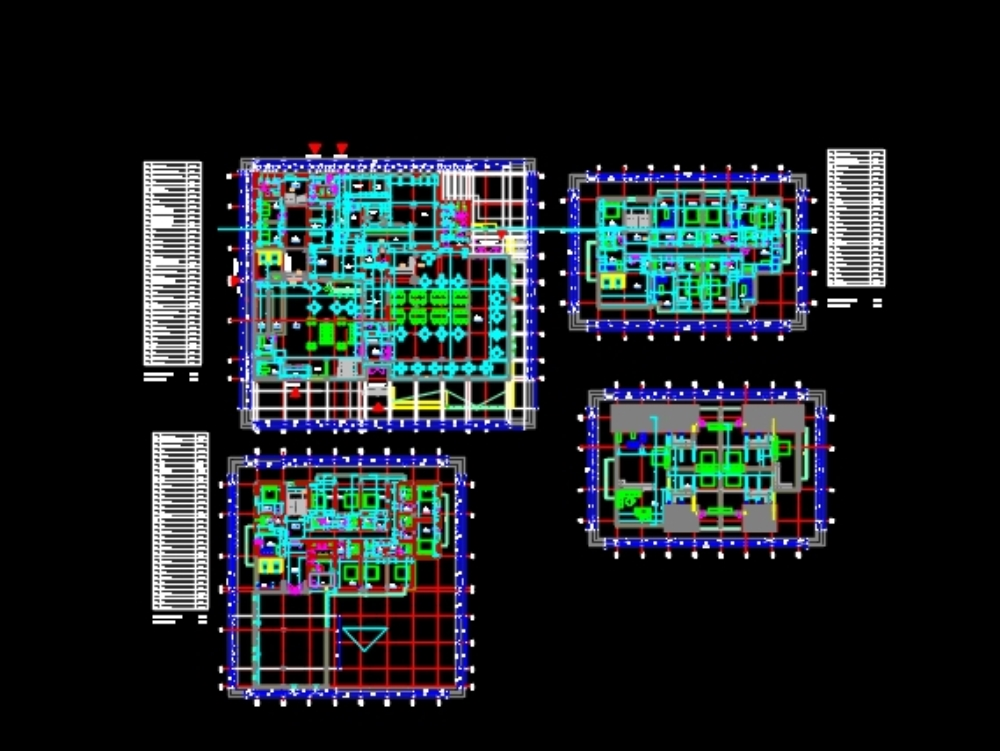 4 levels hostel - complete building plans