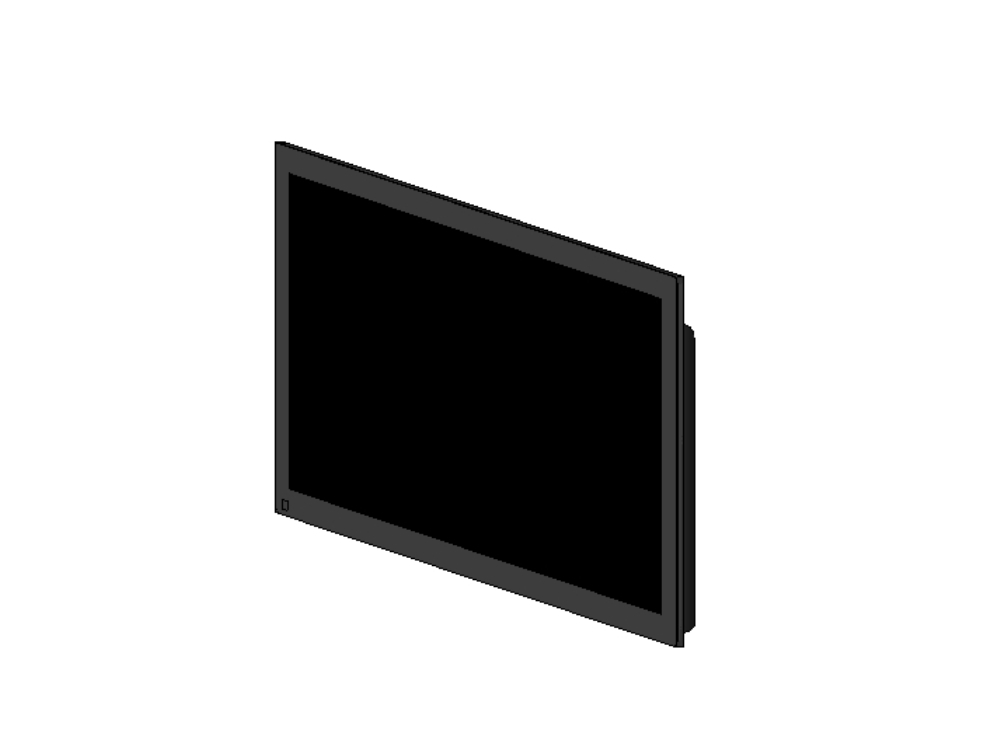 42 inch plasma TV; 3d revit design