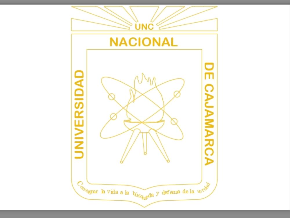 Insignia universidad nacional de cajamarca; perú