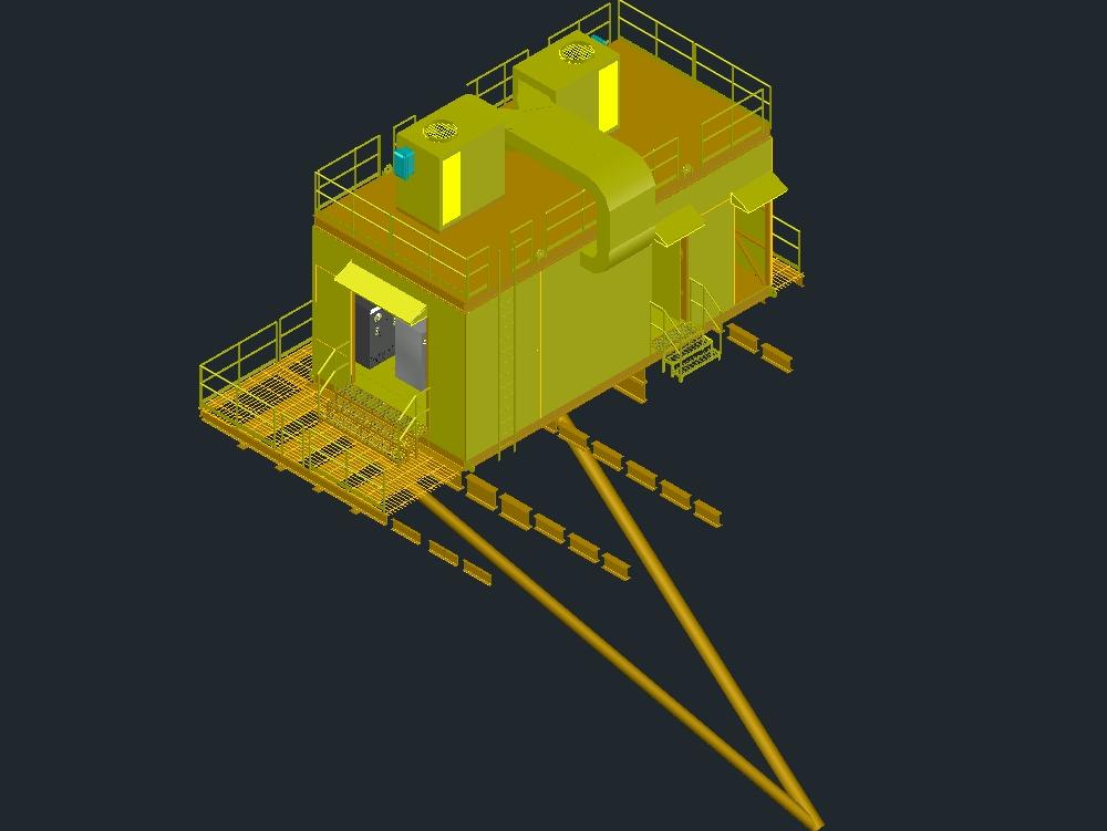 Cuarto de equipos electrónicos industria pertrolera