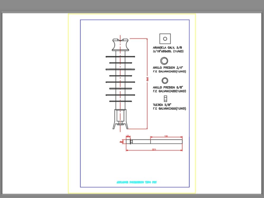 Silicone polymer pin type insulator